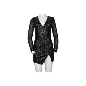 Bebe Black sequin dress